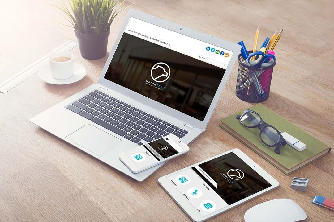 Website of IT tech company