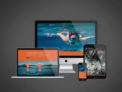 Website design of a Diving Club