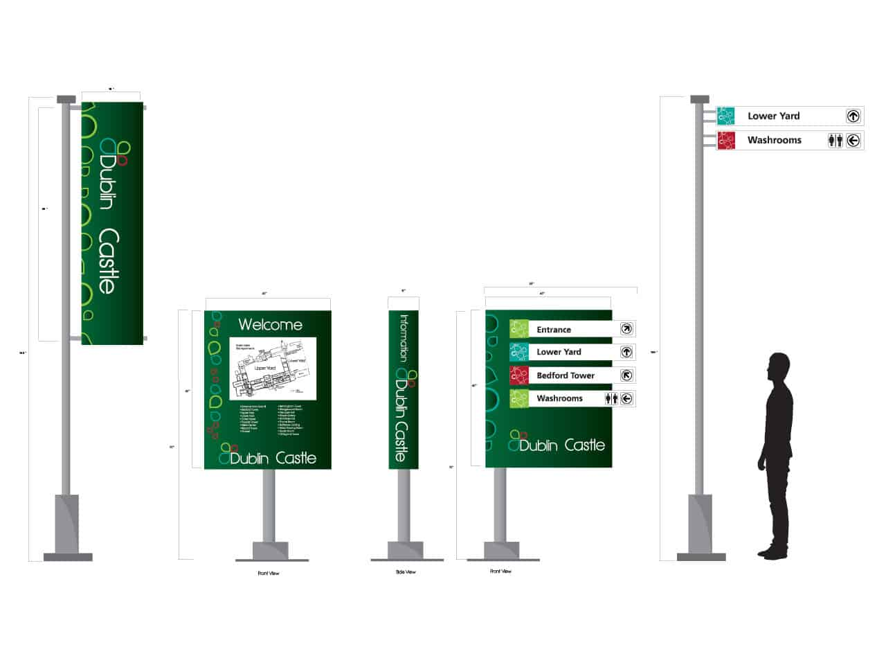Design of signage and way finding for a Castle